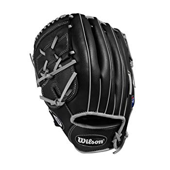 "Wilson A360 Baseball Glove, 12"", Black/Gold, Left Hand"